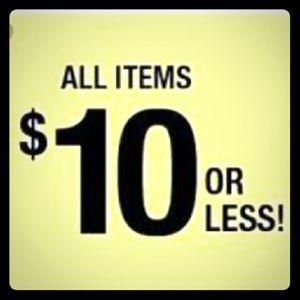 Price range $4 - $10